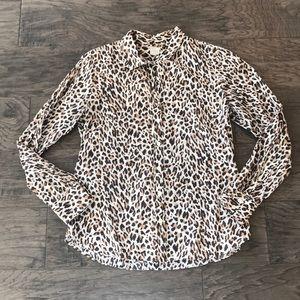 J.Crew - The Perfect Shirt Leopard